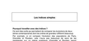 Les indices simples et les bases de référence - Cours