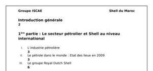 Le secteur pétrolier et shell au niveau national