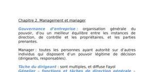 Chapitre 2 : management et manager
