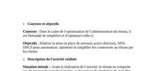la mise en place de serveurs active directory, dns, dhcp