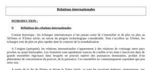Relations internationales - introduction