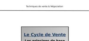 Les principes de base : cycle de vente