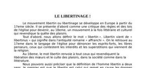 Le libertinage exposé