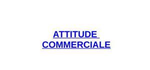 L'attitude commerciale