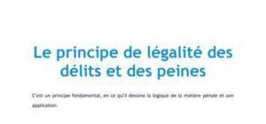Doc - Le principe de légalité des délits et des peines droit L1 FOGELMAN