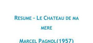 Doc - Le Château de ma mère, Pagnol fiche de lecture