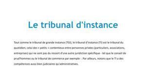 Doc - Le tribunal d'instance