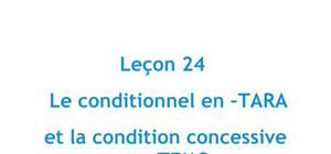 Le conditionnel en –TARA et la condition concessive en –TEMO - JAPONAIS leçon 24