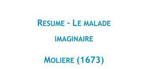 Le malade imaginaire, Molière - Fiche de lecture Français