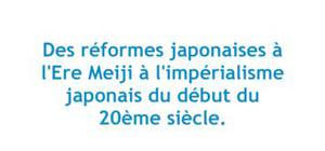 Des réformes japonaises à l'ère Meiji à l'impérialisme japonais du début du 20ème siècle - Japonais