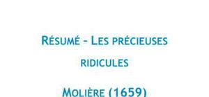 Résumé Les précieuses ridicules, Molière