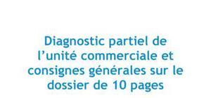 Diagnostic partiel de l'unité commerciale et consignes générales sur le dossier de 10 pages