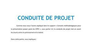 Conduite de projet - BTS NRC