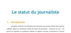 Le statut du journaliste