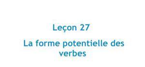 La forme potentielle des verbes - Leçon 27 Japonais