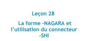 La forme -NAGARA et l'utilisation du connecteur -SHI - Leçon 28 Japonais