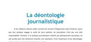La déontologie journalistique - Journalisme Licence