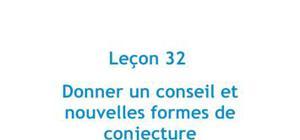 Donner un conseil et nouvelles formes de conjecture - Leçon 32 Japonais