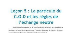 Leçon de Japonais n°5 : La particule du COD et les règles de l'échange neutre