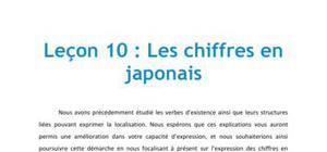 Leçon de Japonais n°10 : Les chiffres