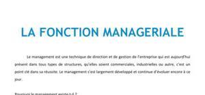 La fonction managériale - BTS NRC