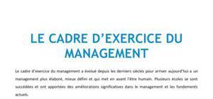 Le cadre d'exercice du management - BTS NRC
