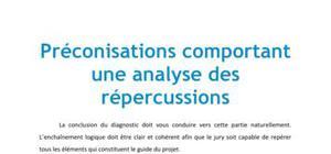 Préconisations comportant une analyse des répercussions - PDUC BTS MUC