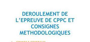 Déroulement de l'épreuve de CPPC et consignes méthodologiques - Méthodo BTS NRC