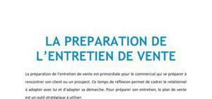 La préparation de l'entretien de vente - BTS NRC