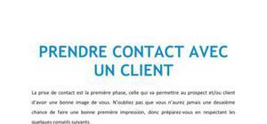 Prendre contact avec un client - BTS NRC