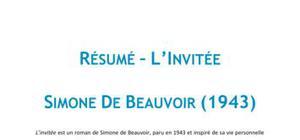 L'invitée, Simone De Beauvoir - Résumé