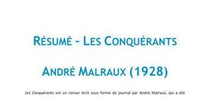 Les Conquérants, André Malraux - Résumé
