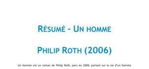 Un Homme, Philip Roth - Résumé