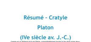 Cratyle, Platon - Résumé