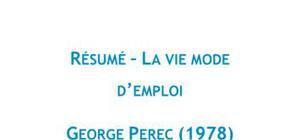 La vie mode d'emploi, Georges Perec - Résumé