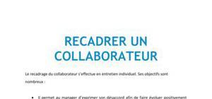 Recadrer un collaborateur - Bac+3 Ressources Humaines
