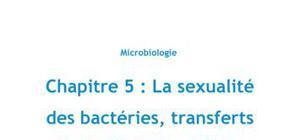 Chapitre 5 : la sexualité des bactéries, transferts horizontaux de gènes, Partie 3 : la transformation naturelle - Biologie PACES