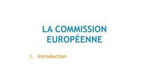 La commission européenne - Droit L1