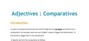 Lesson on comparative adjectives