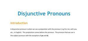 Lesson on disjunctive pronouns