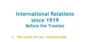 International relations since 1919