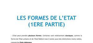 Les formes de l'Etat, Partie 1 - Droit L1