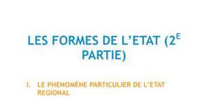 Les formes de l'Etat, Partie 2 - Droit L1