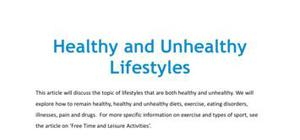 Healthy and unhealthy lifestyles in French