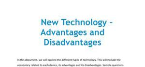 Advantages and disadvantages of new technology in French