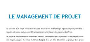 Le management de projet - Management Bac+3
