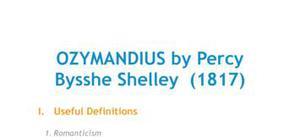 Ozymandius by Percy Bysshe Shelley (1817)