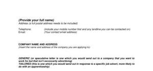 T-Format Cover Letter Template