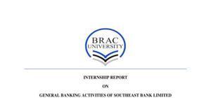 Internship report example on general banking activities
