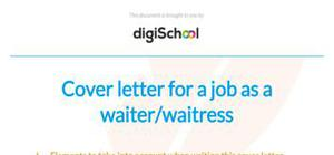 Waitress Cover Letter | JobHero
